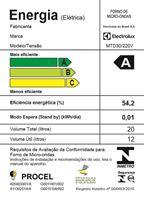 Imagem de MICRO-ONDAS ELECTROLUX 20L MTD30 PAINEL SEGURO 220V BRANCO