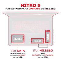 Imagem de NOTEBOOK GAMER ACER  15.6'' AN515-44-R54Q AMD RYZEN 5 8GB 512SSD W
